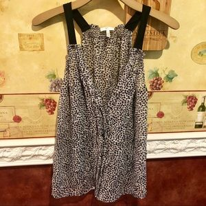 Joie sheer sleeveless blouse